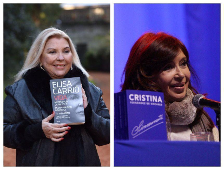 Cristina y Carrió refuerzan la polarización en Mar del Plata