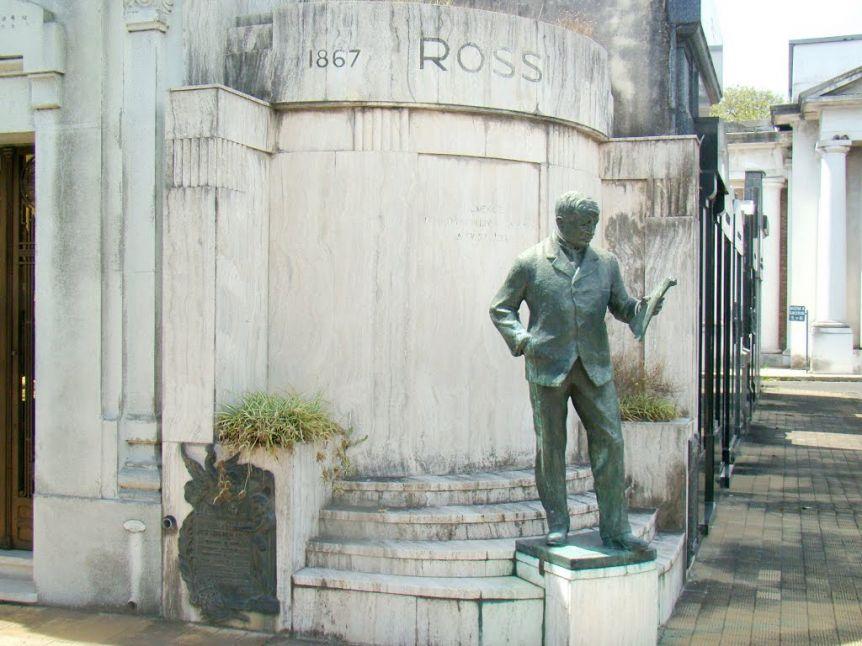 Se robaron del Cementerio de la Chacarita la estatua de José Gregorio Rossi