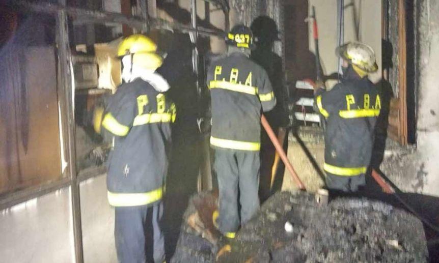 Incendio en oficinas municipales de Bahía Blanca