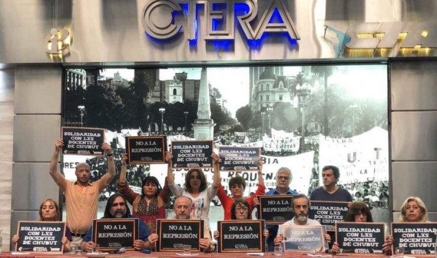 Paro nacional docente en solidaridad con Chubut