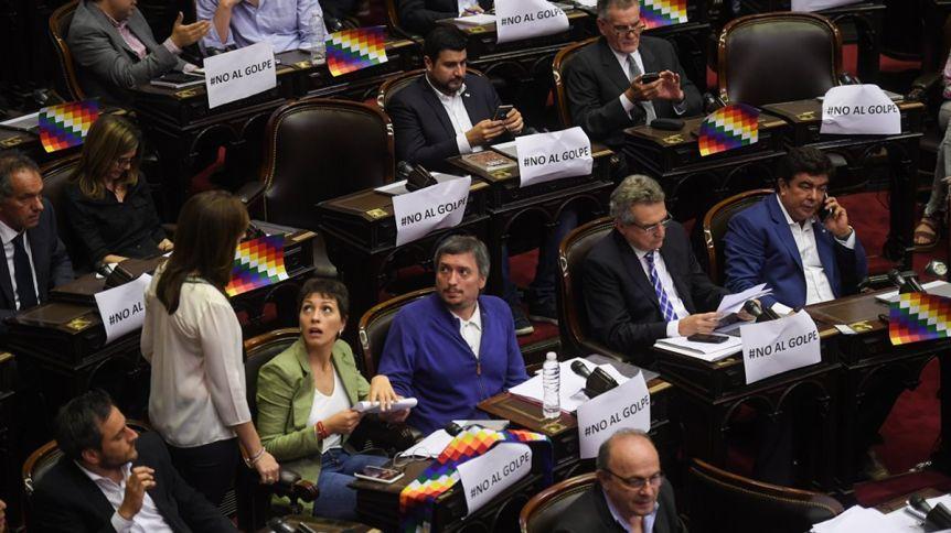 """Espinoza le pidió al Gobierno que """"cumpla con la resolución del Congreso"""" de repudio al golpe en Bolivia"""