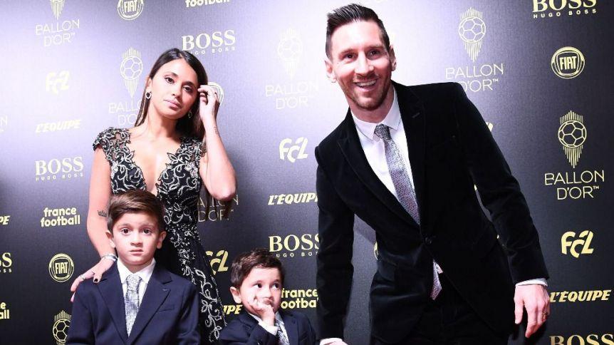 Las travesuras de Mateo Messi en la gala del Balón de Oro