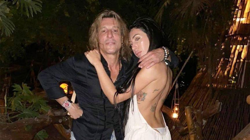 Claudio Caniggia y su novia protagonizaron un video hot