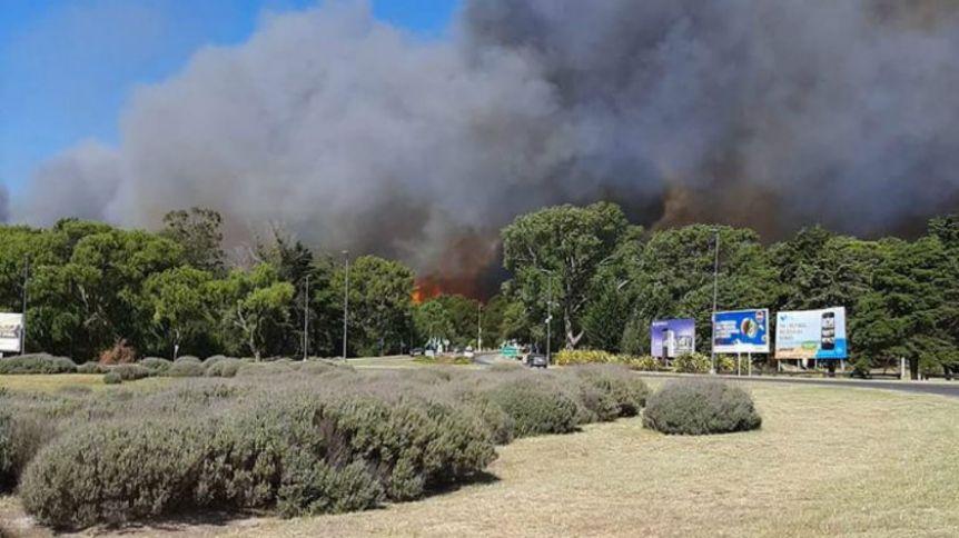 Feroz incendio en Villa Gesell
