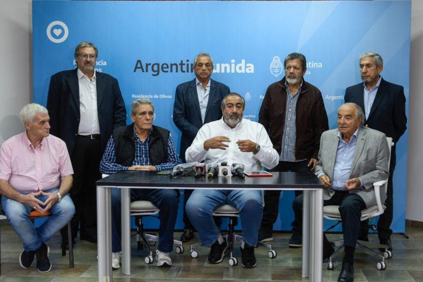 Alberto se reunió con los principales referentes de la CGT