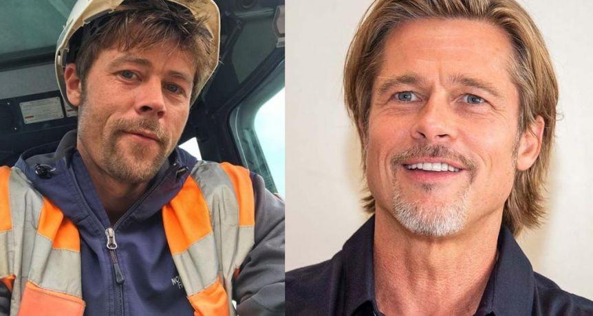 De la construcción a la fama: es furor por ser el doble de Brad Pitt