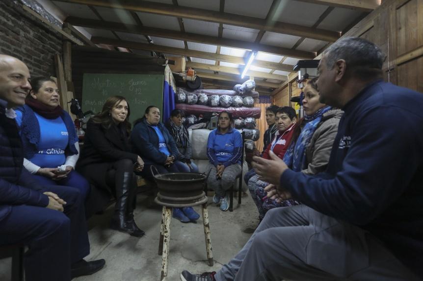 Después de hablarles a los empresarios, Vidal se reunió con cooperativistas
